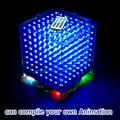 3D8 mini Cubeeds LEVOU KIT DIY com excelentes animações/3D CUBEEDS 8 8x8x8 Júnior, 3D LED Display, suporte Ardino