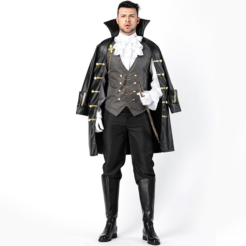 Captain Jack Sparrow Costume Pirates of the Caribbean  Adult Cosplay Fancy Dress Carnival Halloween Cosplay Costume For Men