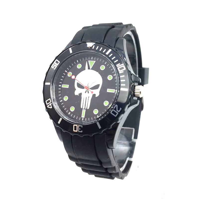 The Avenger Captain America students watches quartz wrist watch for kids cool boys clock black pu strap drop shipping (24)
