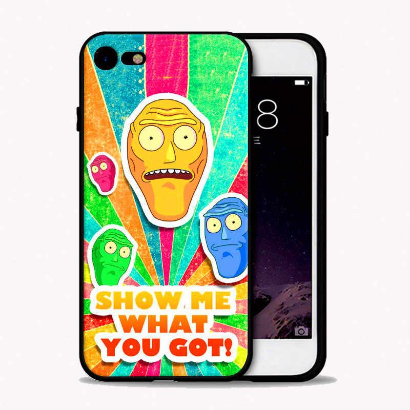 Rick dan Morty Ponsel Case PENUTUP UNTUK iPhone 11pro 6S 6 Plus 5s 5 Se 7 8 PLUS X XS XR Max Hitam Lembut Silicone TPU Coque Capa Case