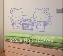 57*117cm Cartoon Lovely Home Sticker Wall Decor Decals Murals Art Vinyl  Paster A26 Hello Kitty Part 75