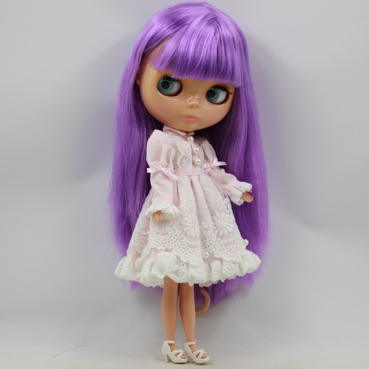 Free shipping Purple Tan skin Nude Blyth PUR 631