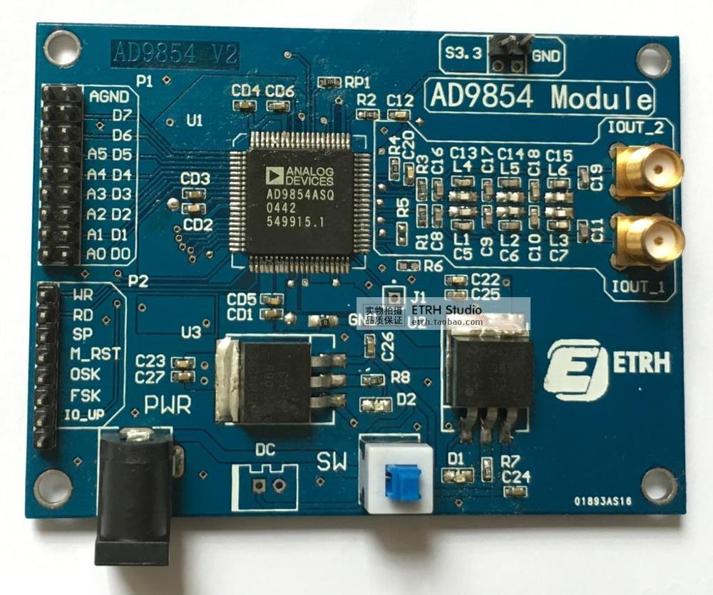 Module AD9854, carte d'apprentissage DDS haute vitesse, filtre à bande, procédures FPGA, technologie DDS universelle