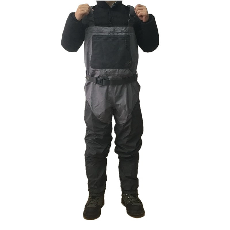 4 layer breathable material chest waders fly fishing waders H4 stocking foot hunting waders fishing tackle breathable fishing waders for men stocking foot chest waders pesca waders