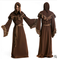 FREE SHIPPING Halloween Party Costume and medieval wizard robe Star Wars Cosplay clothing