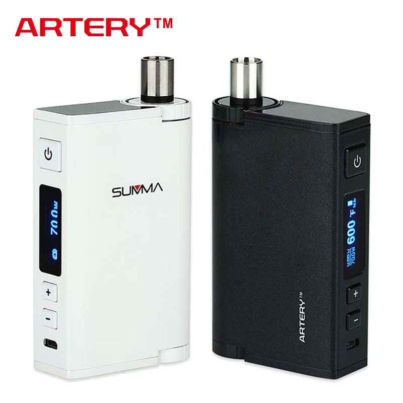 Orginal 70W Artery Summa Starter Kit with 5ml Huge Capacity Tank & ASC Coil Unit Max 75W Electronic Cigarette Kit Vs EGO AIO Box