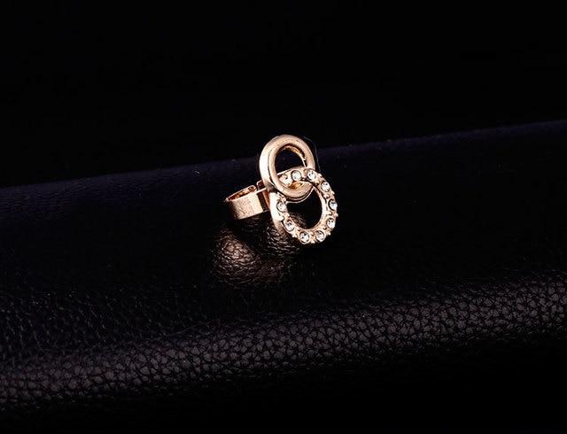 Golden Circles Jewelry Set