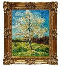 Pink Peach Tree by Vincent Van Gogh Handpainted