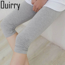 OUIRRY .Cropped Trousers, Cotton Summer Skinny Size Outer Candy Color Women's Dress Bottom Pants