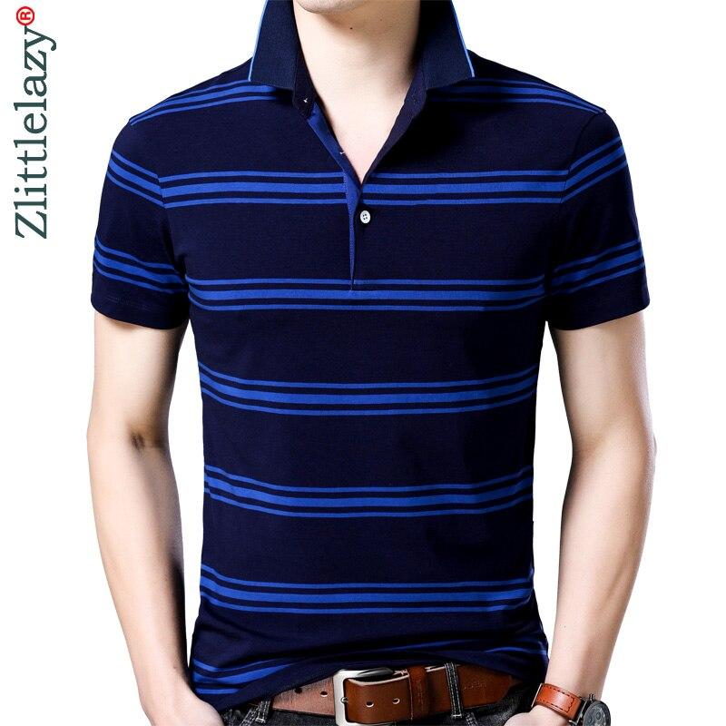 2019 short sleeve bodybuilding tee shirts summer striped pol shirt polo men clothes streetwear jersey mens polos poloshirt 6388