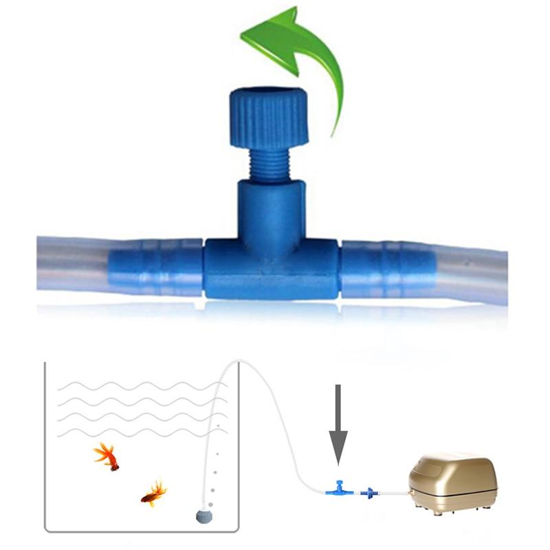 10 pcs fish tank air pump control valves aquarium hose for Fish tank hose