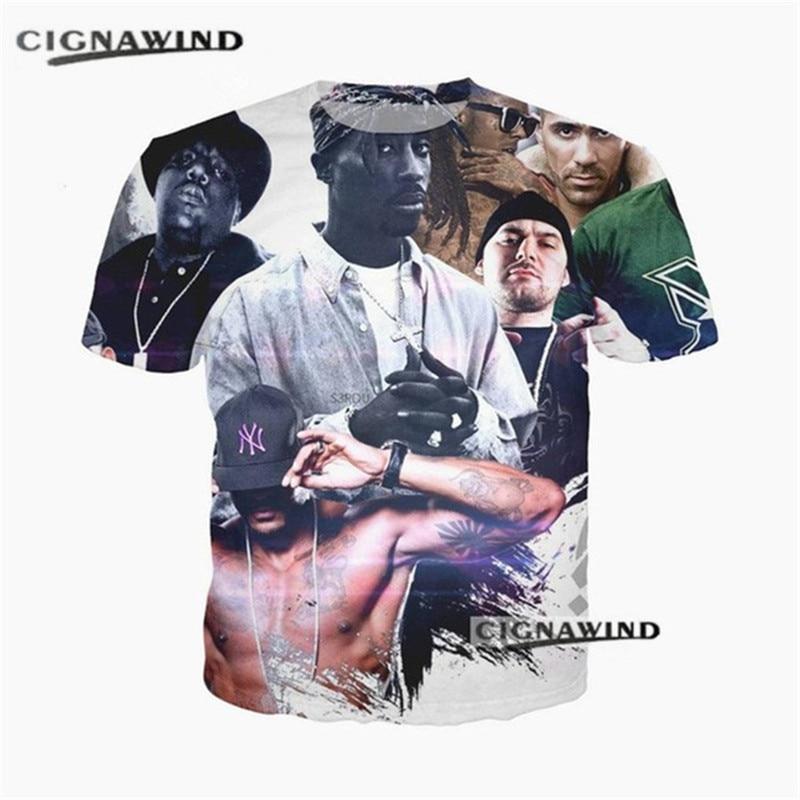 New fashion Rapper Tupac 2pac t shirt menwomen 3D printing t-shirts Short sleeve hip hop style tshirt streetwear summer tops