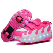 Anak LED Berkedip Sepatu Sepatu Roda Tunggal Colorful Flashing Roller Skate  Sepatu Anak Boy Gadis Roller 8b5f5d5a03