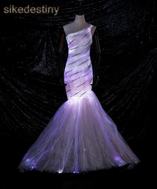 Sikedestiny Luminous Fiber Optic Wedding Dresses Glow In The Dark ...