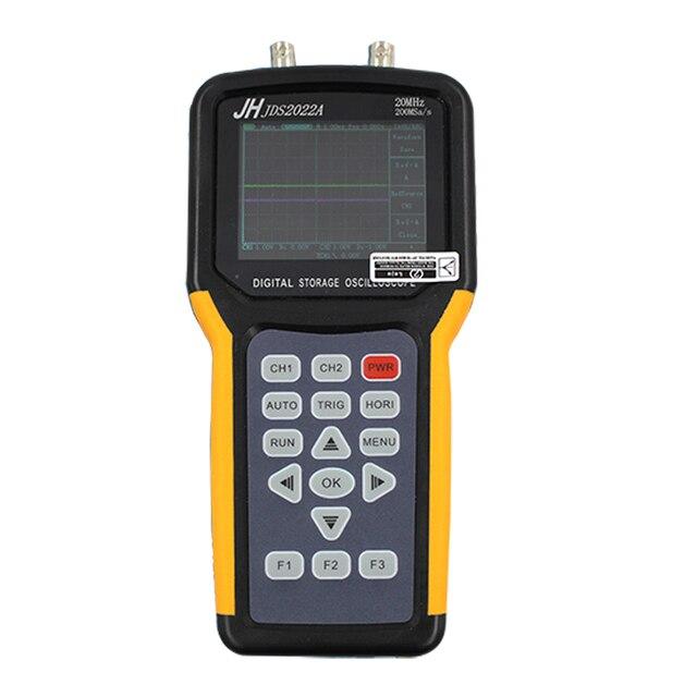 Jinhan JDS2022A цифровой Ручной осциллограф 2 канала 20 МГц Автомобильный осциллограф Полоса пропускания 200 Мвыб/с Частота выборки