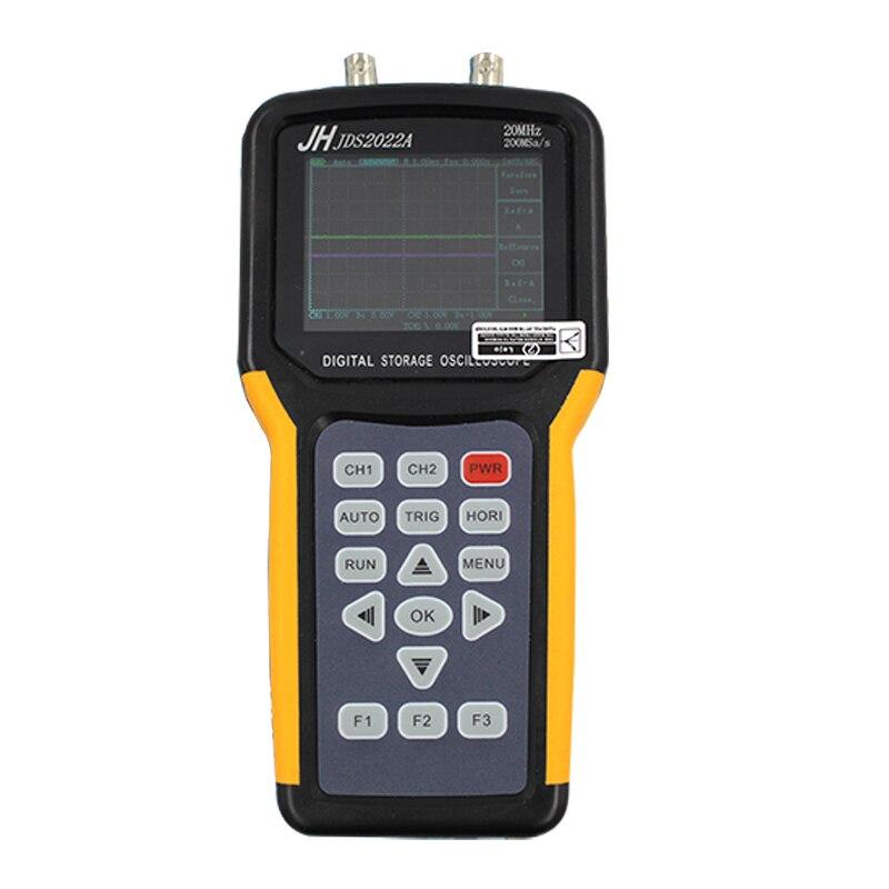 Jinhan JDS2022A Handheld Digital Osciloscópio de 2 Canais 20 MHz largura de Banda do osciloscópio automotivo 200MSa/s de Taxa de Amostragem