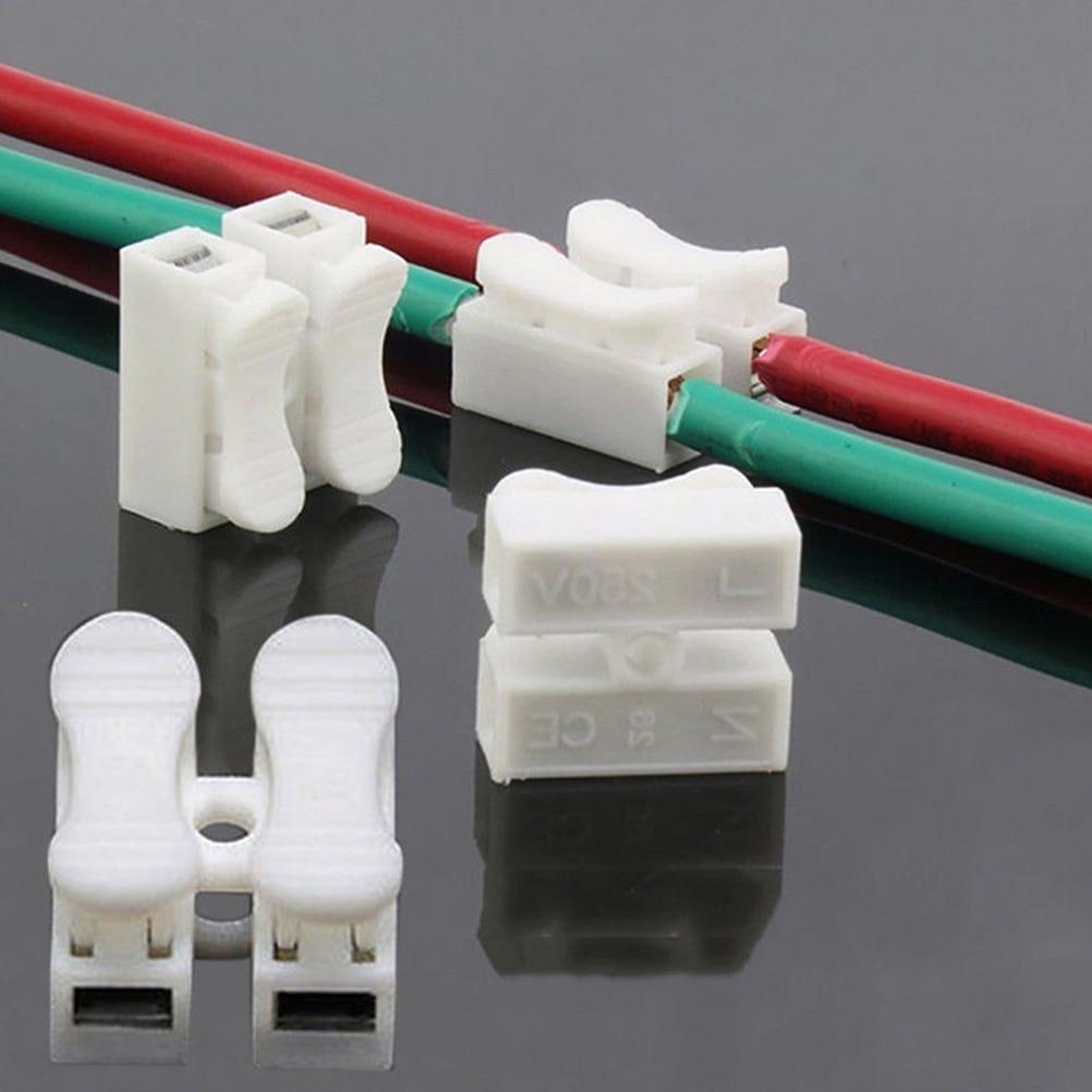 Wholesale 30pcs/lot Quick Splice Lock Wire Connectors CH2 2Pins Electrical Cable Terminals 20x17.5x13.5mm 30pcs lot sn74ls240n 74ls240