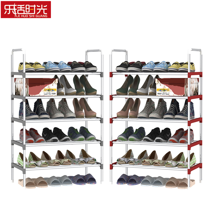Multiple-Layer Shoe Rack Stainless Steel Simple Assembled Shoes Storage Shelf Home Furniture Can Be Moved Hallway Shoe Organizer