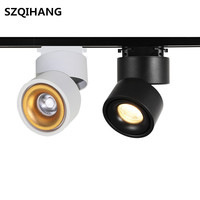 Hot sales White/Black COB Led Track Lamp Surface Mounted COB LED Downlight 12W COB LED Spot Light AC85 265V|Track Lighting|Lights & Lighting -