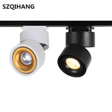 Hot sales White/Black COB Led Track Lamp Surface Mounted LED Downlight 12W Spot Light AC85-265V