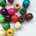 50Pcs wooden multi coloured dread dreadlock Bead cuff clip approx 8mm hole clip