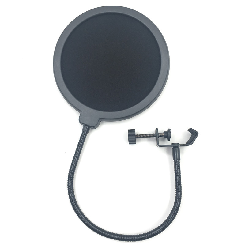 double layer studio microphone mic wind screen pop filter swivel mount mask shied for speaking. Black Bedroom Furniture Sets. Home Design Ideas