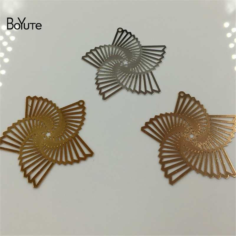 BoYuTe 20Pcs Silver Gold Filigree Metal Windmill Wholesale Pendant Charms for Jewelry Making Diy (1)