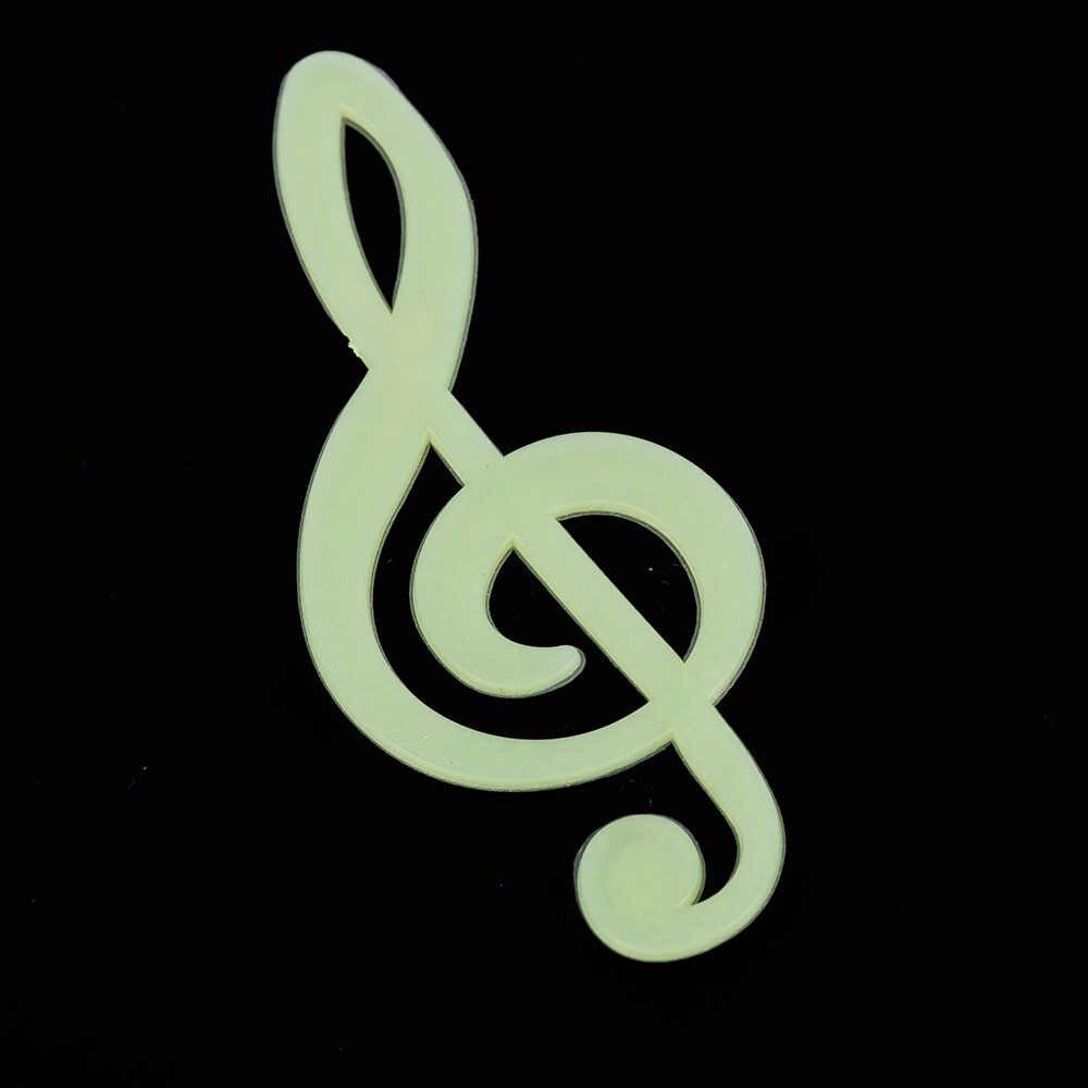 Autocollants Mini Note musicale | Étiquette murale lumineuse, étoiles sombres scintillantes, décor pour chambre d'enfant, maison, 15 pièces/ensemble