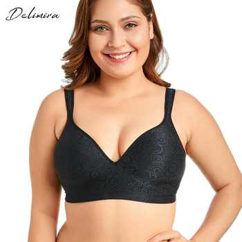 Delimira Women's Jacquard Everyday Full Coverage Comfort Seamless Foam Contour Wire Free Bra - DISCOUNT ITEM  15% OFF All Category