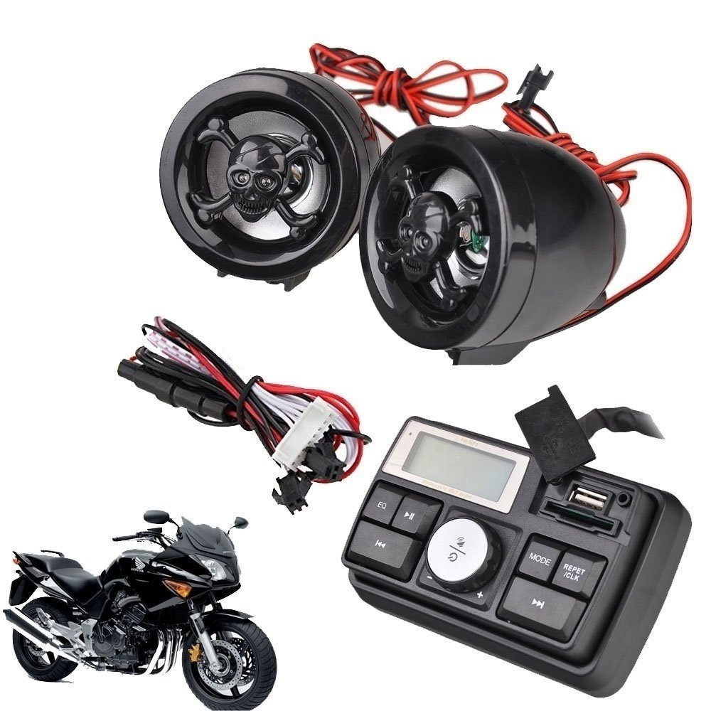 2018 Motorcycle Audio System Speakers Handlebar Audio System FM Radio Motorcycle FM Audio MP3 Speaker Audio System Accessories motoqueen 35w 4 motor vehicle speakers dirt bike mp3 player fm radio atv motorcycle audio mp3 system