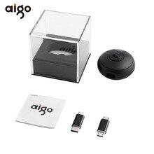 Aigo VR мини-панорамная Камера 720 градусов видео Камера Двойной объектив с двойной Адаптеры для сим-карт Micro Разъёмы для смартфонов plug and play