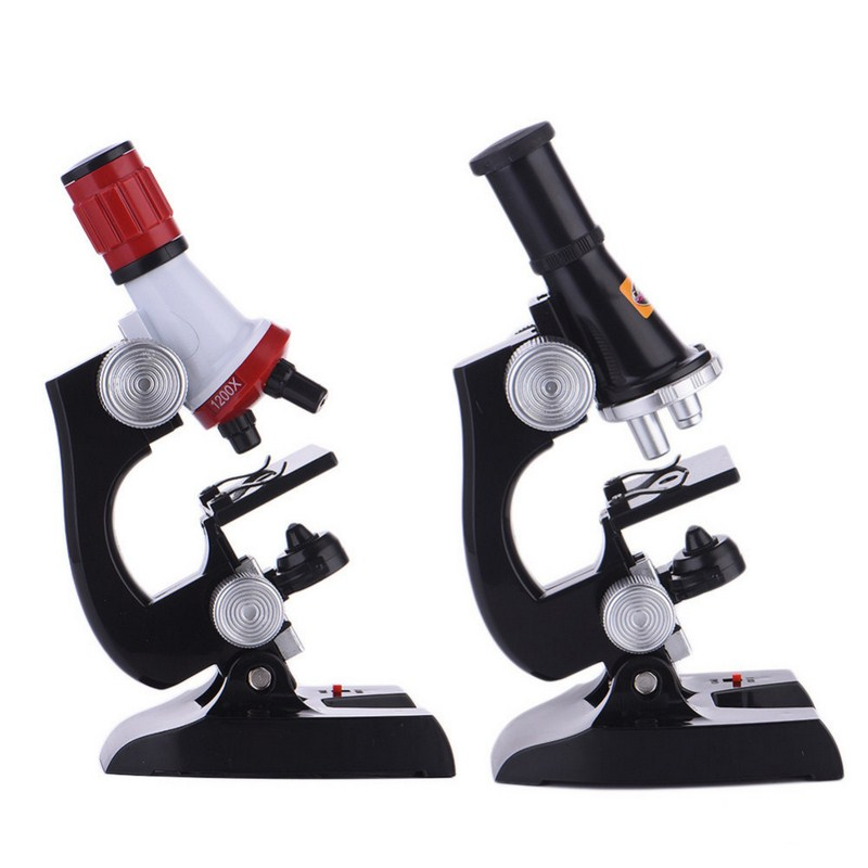 все цены на Biological Microscope Kit Lab 100X-1200X USB School Educational Toy Gift For Kids Boys High Presision Magnifier LED Microscope онлайн