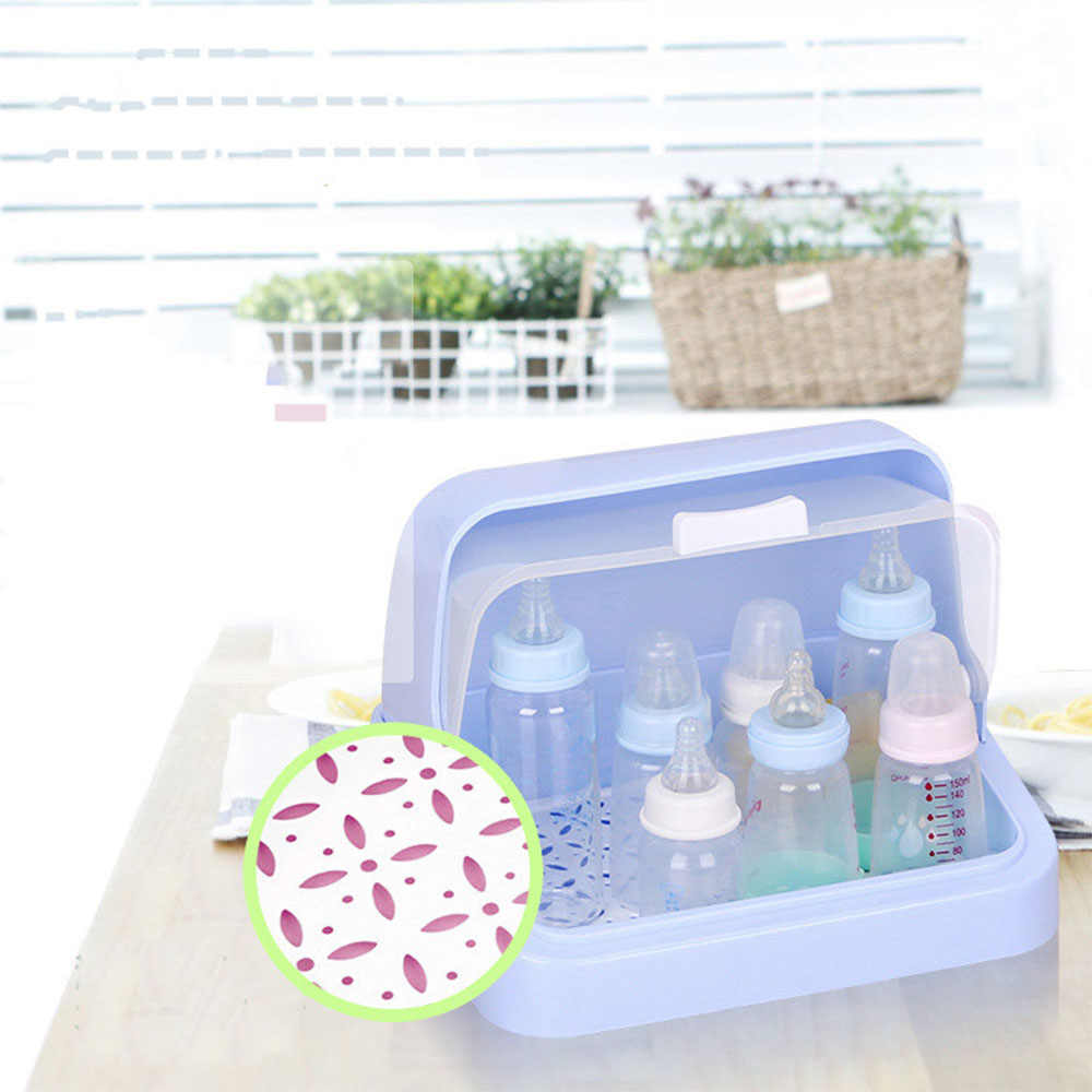 Baby Food Storage Bottle Box Plastic Container Baby Milk Bottles Multi-functional Solid Feeding cleaning Save space Mother & Kid