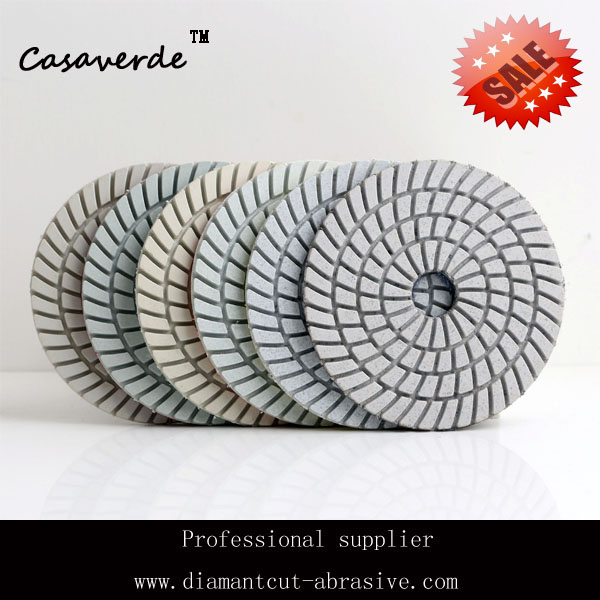 "DC-SWPP02 premium quality 4 inch""(100mm) wet diamond polishing pads,diamond tools stone granite flexible pad"""