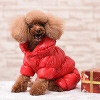 2017 الساخن بيع 3 لون دافئ معطف الشتاء الكلب بذلة الملابس معطف لل كلاب الصغيرة والكبيرة القصير سميكة القطن المفضل الملابس