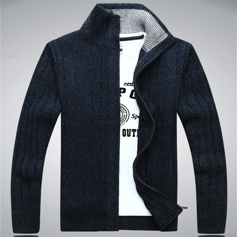 ICPANS Sweaters Man 2019 Wool Cotton Men's Sweater Winter Autumn Zipper Kint Wear Male Cardigan Sweatercoats White Size XXXL
