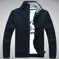 ICPANS Sweaters Man 2019 Wool Cotton Men's sweater Winter Autumn Zipper Kint Wear Male Cardigan Sweatercoats White Size XXXL