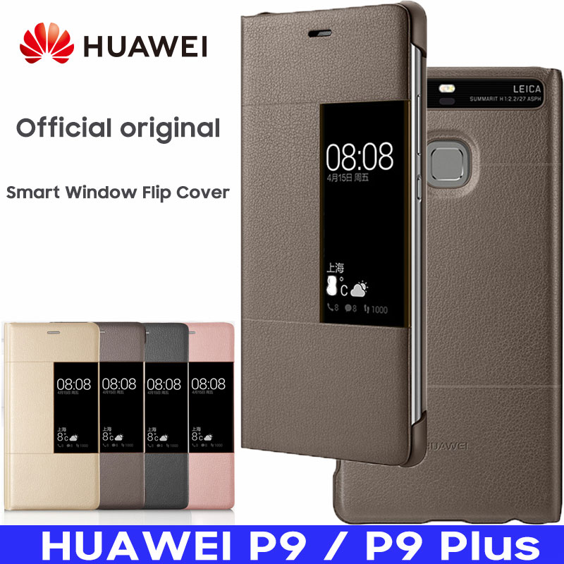 HUAWEI P9 Plus Case Original Official Smart Mirror Windows View Flip PU Leather Wallet Cover HUAWEI P9 Case Mobile Phone CaseHUAWEI P9 Plus Case Original Official Smart Mirror Windows View Flip PU Leather Wallet Cover HUAWEI P9 Case Mobile Phone Case