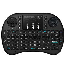 Original rii i8 Mini Russian Hebrew EnglishSpanish Wireless keyboard Touchpad 2.4G Multi-Media Remote Control For Andriod TV Box цена в Москве и Питере