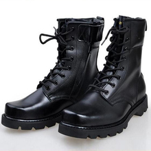 Men Shoes Army Combat Military Boots Outdoor Shoes Platform High Top Non-slip Lace-up Winter Hiking Boots Ankle Boots Black