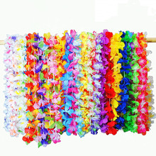 Hawaii 36 colors Wreath for beach party decoration hot sale artificial beautiful colorful wreath Random color delivery