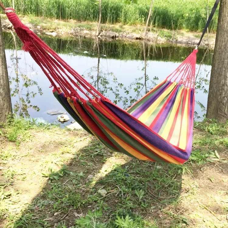 260X140 CM Rede 2 Parachute Hammock Pessoa Ultraleve Caça Mosquito Net Dormir Bed Balanço Ao Ar Livre mobiliário