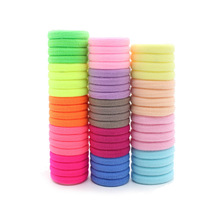 2019 Limited Sale Kids Girls Hair Bands Cute Candy Seamless High Elastic Ring Baby Solid Colorful Accessories 50pcs/lot