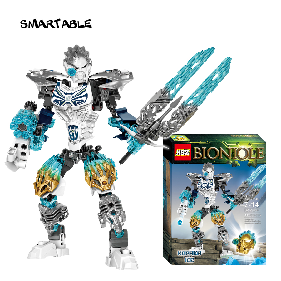 Smartable BIONICLE 131pcs Kopaka Ice figures 611-4 Building Block toys Compatible legoing BIONICLE Gift lego bionicle 71309 онуа объединитель земли