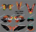 New style (BULL BLACK 0408) TEAM GRAPHICS&BACKGROUNDS DECALS STICKERS Kits FOR KTM Motorcycle SX XC XC-W EXC 2008 2009 2010 2011