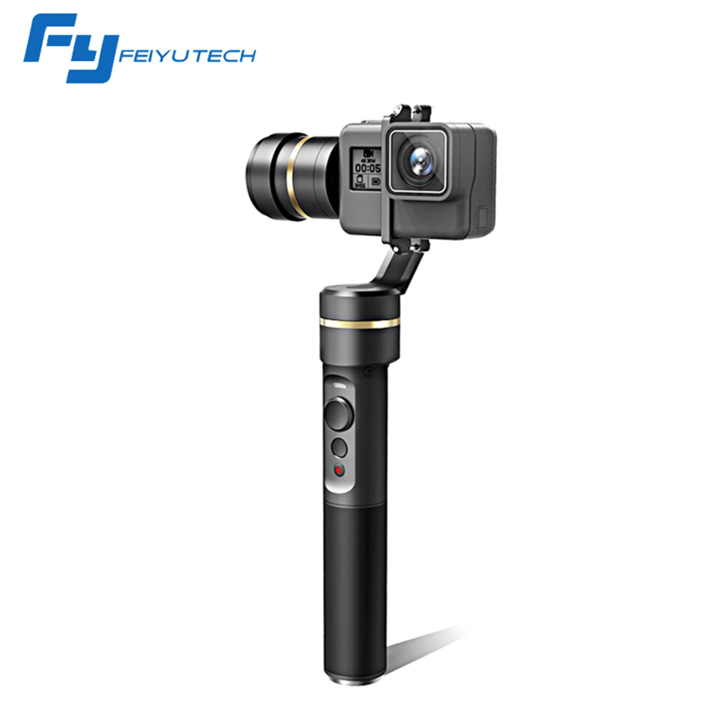 Feiyutech G5 Handheld Gimbal Stabilizer for GoPro HERO 5/4/3+/3 Xiaomi Yi 4k AEE Action Camera Gimbal Sports Camcorder Accessory [hk stock][official international version] xiaoyi yi 3 axis handheld gimbal stabilizer yi 4k action camera kit ambarella a9se75 sony imx377 12mp 155 degree 1400mah eis ldc sport camera black
