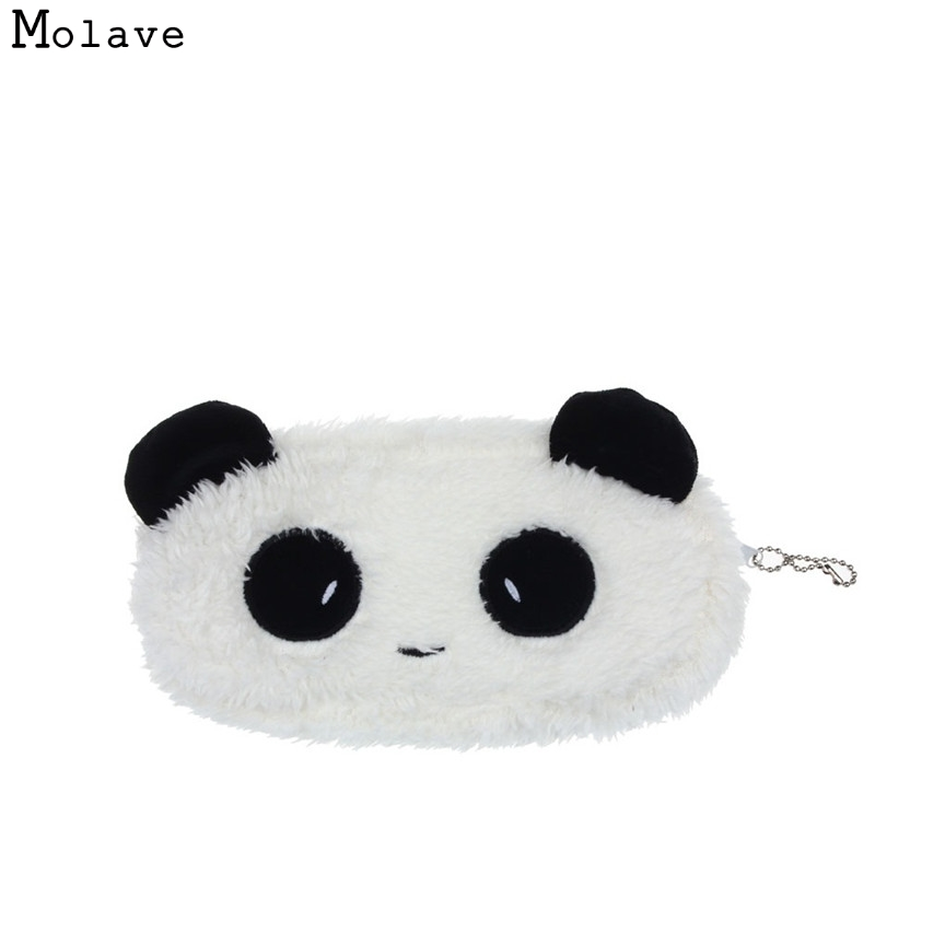 Naivety New Mini Cute Plush Panda Pen Pencil Case Cosmetic Makeup Bag Coin Purse Wallet Good For Gift JUL28 drop shipping 2016 watermelon plush key coin wallet purse cosmetic makeup pouch phone pencil pen bag carteira 9ij3