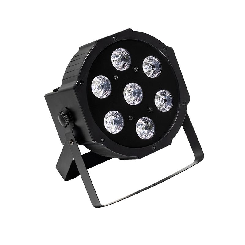 2pcs Fast Shipping Black LED Par Can 64 LED Par64 LED Quad RGBW 7x12W LED Flat Par 7x12W RGBW Disco KTV DJ light