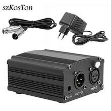 48v potência fantasma para microfone bm 800, equipamento de gravação condensador ue plug microfone phantom power e adaptador 2.5m xlr cabo de áudio,