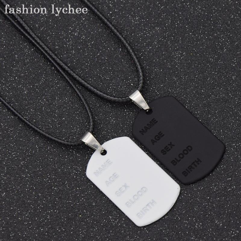2019 Fashion Fashion Lychee 2pcs Creative Couple Lovers Diy Name Age Birth Pendant Necklace Lizard Snake Birthday Jewelry Gift Special Buy Jewellery & Watches